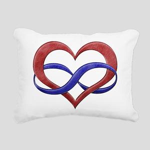 Polyamory Heart Rectangular Canvas Pillow