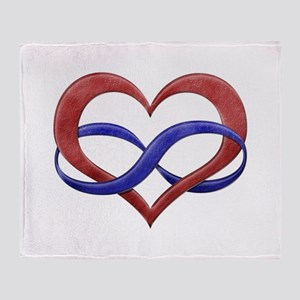 Polyamory Heart Throw Blanket
