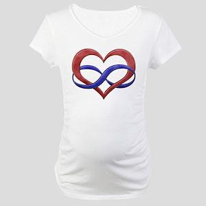 Polyamory Heart Maternity T-Shirt
