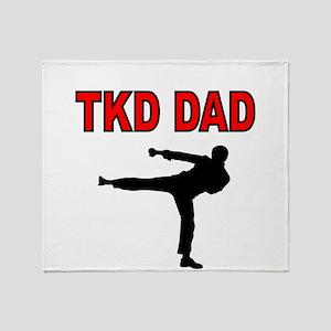 TKD DAD Throw Blanket