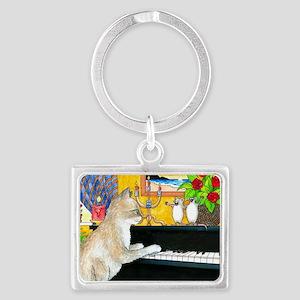 Cat 506 Landscape Keychain