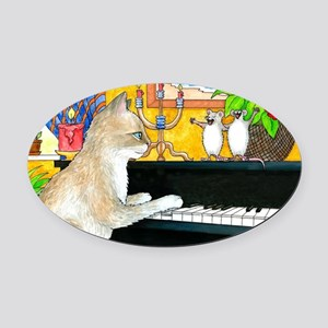 Cat 506 Oval Car Magnet