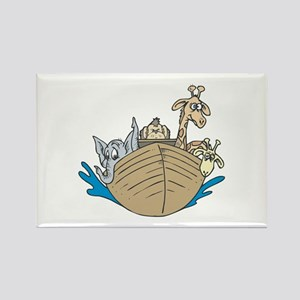 Cute Noah's Ark Design Rectangle Magnet