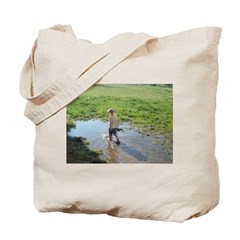 Girl splashing Tote Bag