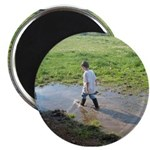 Boy splashing Magnet