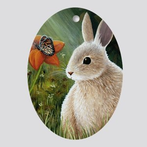 Hare 55 Oval Ornament
