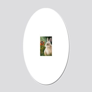 Hare 55 20x12 Oval Wall Decal