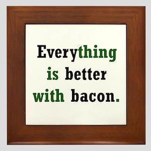 Bacon Lover Framed Tile