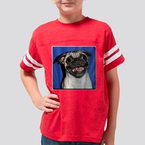 PugMug7 Youth Football Shirt