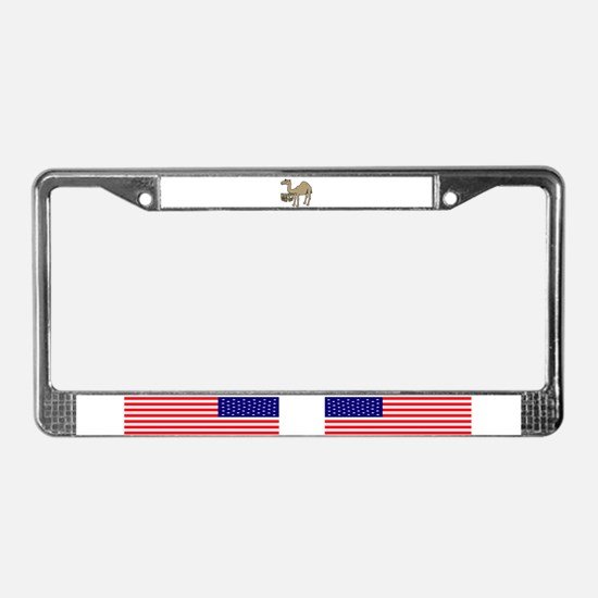 Camel happy hump day License Plate Frame