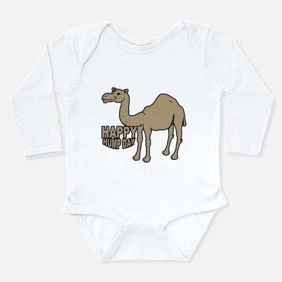 Camel happy hump day Long Sleeve Infant Bodysuit