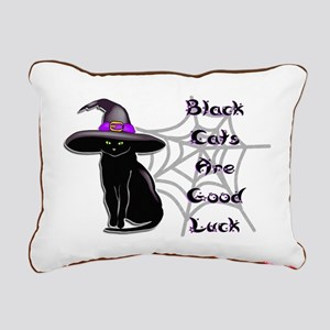 Black Cat Rectangular Canvas Pillow