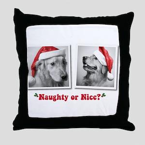 Naughty or Nice? Throw Pillow