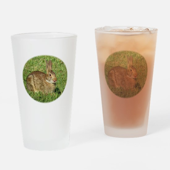 Bunny With Tongue Out Drinking Glass