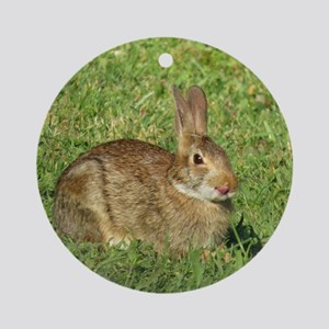Bunny With Tongue Out Ornament (Round)