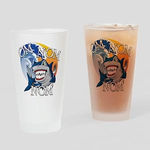 Om Nom Nom Drinking Glass