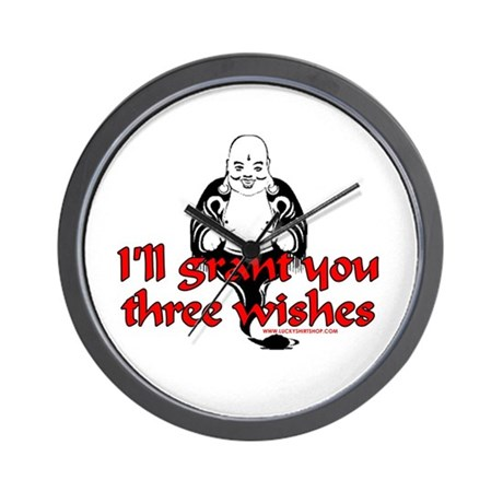 I'll Grant You Three Wishes Wall Clock