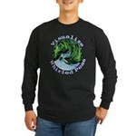 Visualize Whirled Peas Long Sleeve Dark T-Shirt