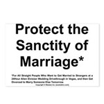 Protect the Sanctity of Marriage* Postcards (Packa