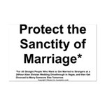 Protect the Sanctity of Marriage* Mini Poster Prin