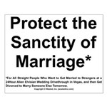 Protect the Sanctity of Marriage* Small Poster