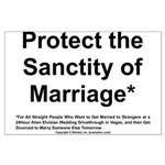 Protect the Sanctity of Marriage* Large Poster