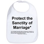 Protect the Sanctity of Marriage* Bib