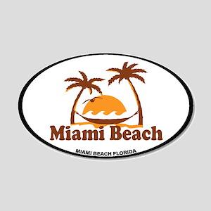 Miami Beach - Palm Trees Design. 20x12 Oval Wall D