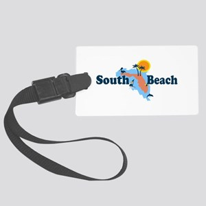 South Beach - Map Design. Large Luggage Tag