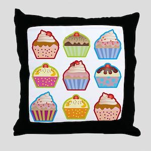 Cute Cupcakes Throw Pillow