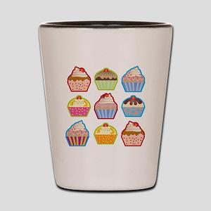 Cute Cupcakes Shot Glass