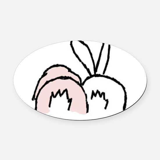 !!bunnybt3.jpg Oval Car Magnet