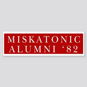 Miskatonic Alumni '82 Bumper Sticker