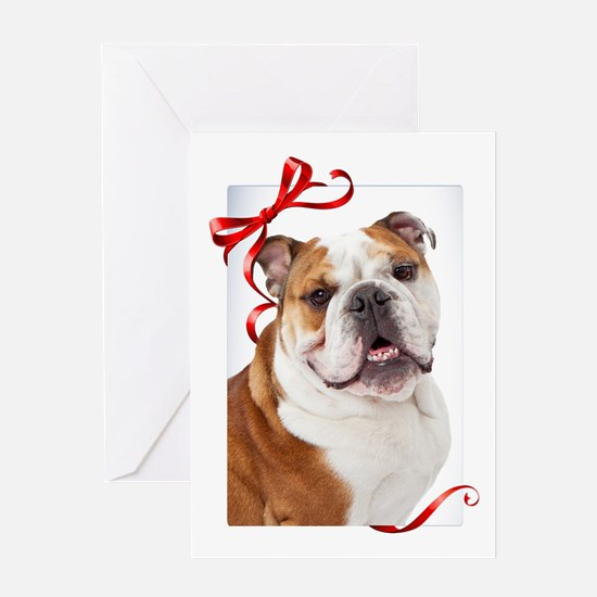 Bulldog Christmas Greeting Cards