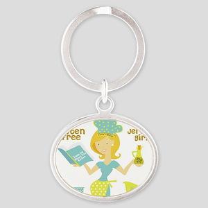 GF jersey Girl Oval Keychain