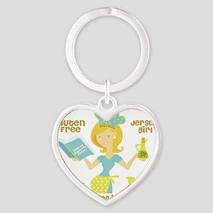 GF jersey Girl Heart Keychain