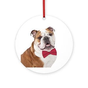 English Bulldog Christmas Ornaments - CafePress