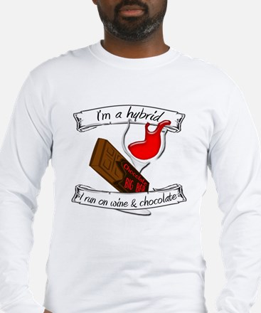 Wine Chocolate Hybrid Long Sleeve T-Shirt