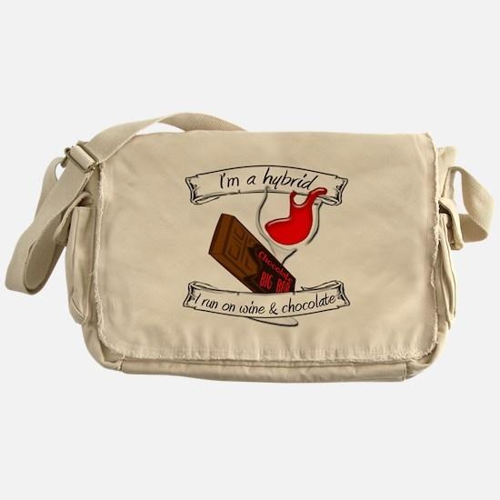 Wine Chocolate Hybrid Messenger Bag