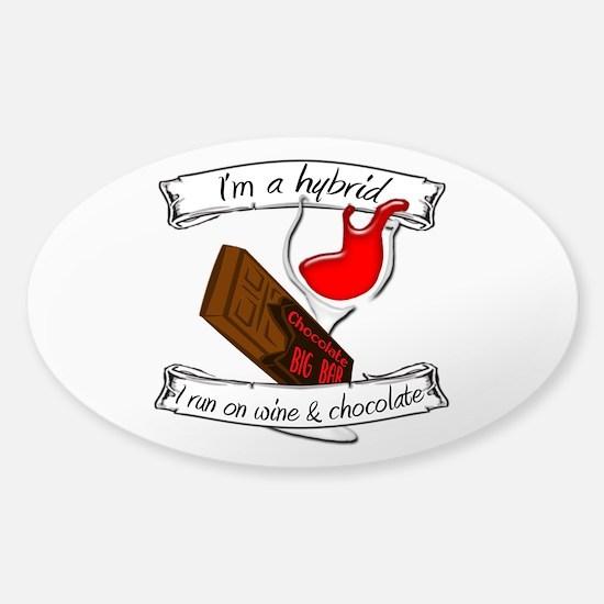 Wine Chocolate Hybrid Sticker (Oval)
