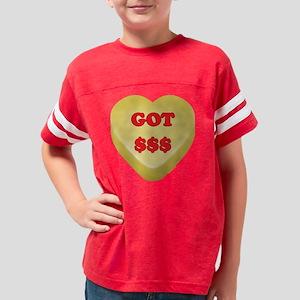 GotMoney_hrt_ylw Youth Football Shirt