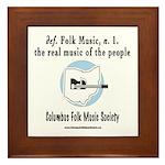 Folk Music Framed Tile