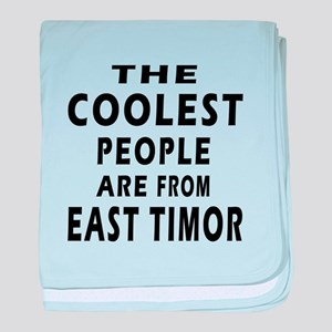 The Coolest East Timor Designs baby blanket