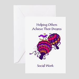 Social Work Dreams Greeting Cards