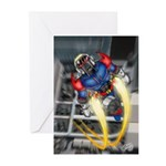 jump jetcolor Greeting Cards (Pk of 10)