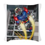 jump jetcolor.jpg Woven Throw Pillow