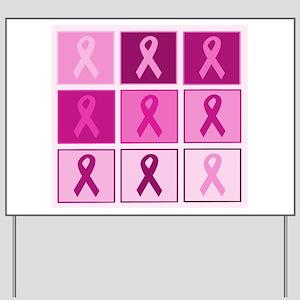 Pink Ribbon Multi pink Yard Sign