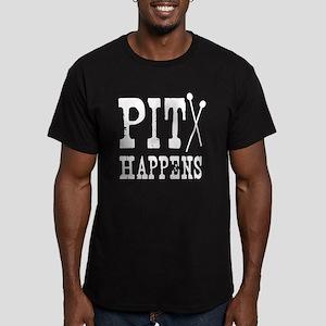 Pit Happens Men's Fitted T-Shirt (dark)