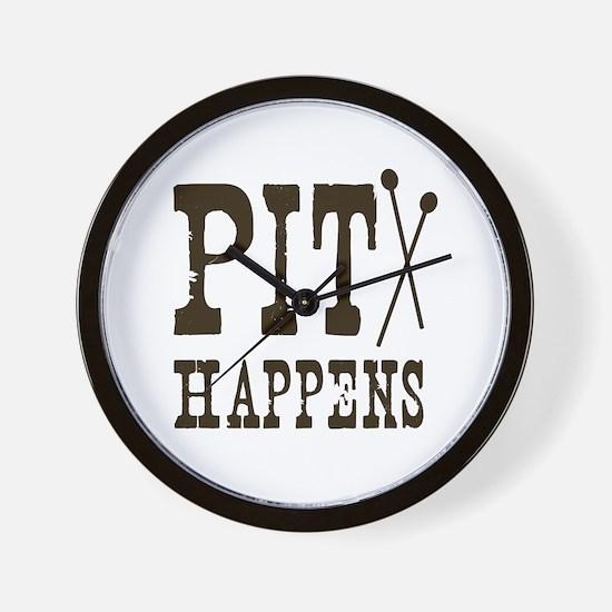 Pit Happens Wall Clock