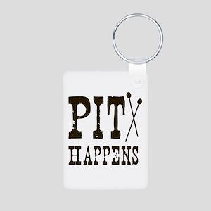 Pit Happens Aluminum Photo Keychain